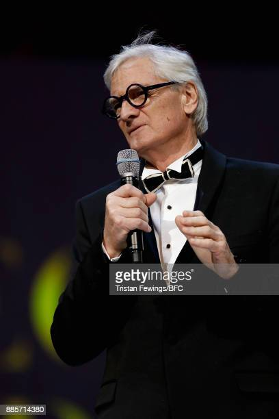 Sir James Dyson presents the Special Recognition award for Innovation on stage during The Fashion Awards 2017 in partnership with Swarovski at Royal...