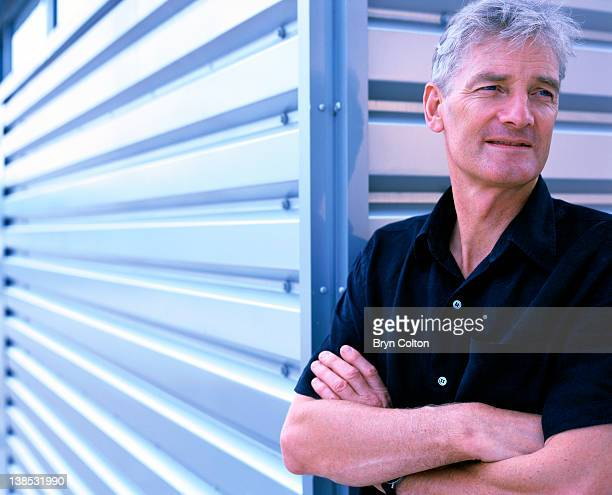 Sir James Dyson the inventor of the bagless vacuum cleaner and founder of Dyson Ltd poses for a photograph at the Dyson company headquarters in...