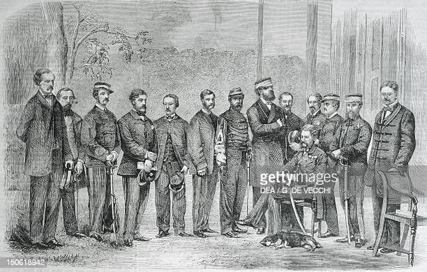 Sir James Hope Grant and other members of the British expedition to China 1839 First Opium War China 19th century