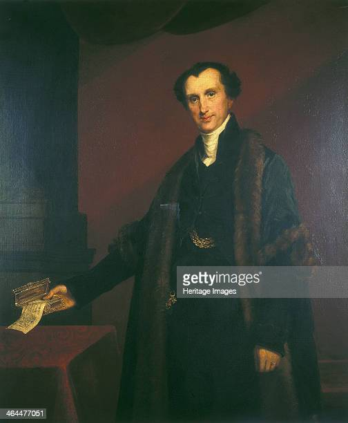 Sir James Shaw 1834 Full length portrait showing him holding a letter in his right hand