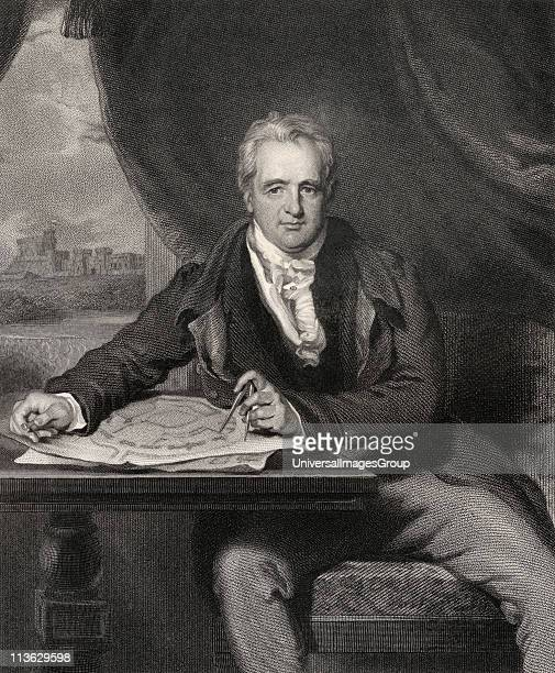 Sir Jeffry Wyatville or Wyattville 1766 to 1840 English architect and garden designer Engraved by H Robinson after Sir Thomas Lawrence From the book...