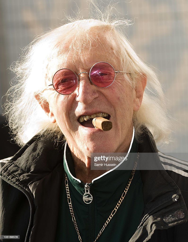 Sir Jimmy Savile attends the ceremony to name Cunard's new cruise-liner Queen Elizabeth II in Southampton Docks on October 11, 2010 in Southampton, England.