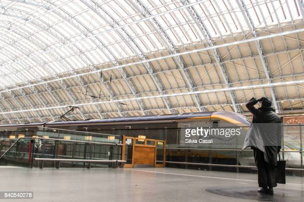 Sir John Betjeman Statue at St.Pancras Station London