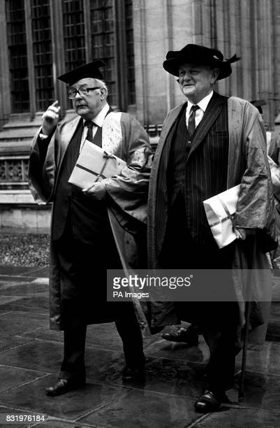 Sir John Betjeman the Poet Laureate and Lord Hailsham both recieved honorary degrees at Oxford University today