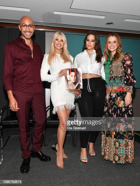 Sir John Christie Brinkley Ashley Graham and Leah Wyar attend Cocktails and a Conversation with the Stars of Lifetime's 'American Beauty Star'...