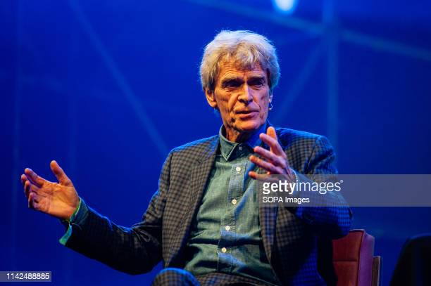 Sir John Hegarty is seen speaking during The Next Web Conference. The 14th edition of the The Next Web conference was inaugurated in Amsterdam at the...