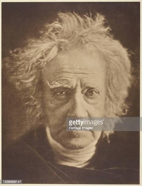 Sir John Herschel printed 1875. A work made of carbon print. Artist Julia Margaret Cameron.