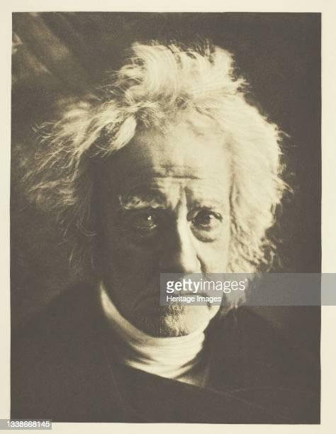 Sir John Herschel printed October 1890. A work made of photogravure, from 'sun artists, number 5' . Artist Julia Margaret Cameron.