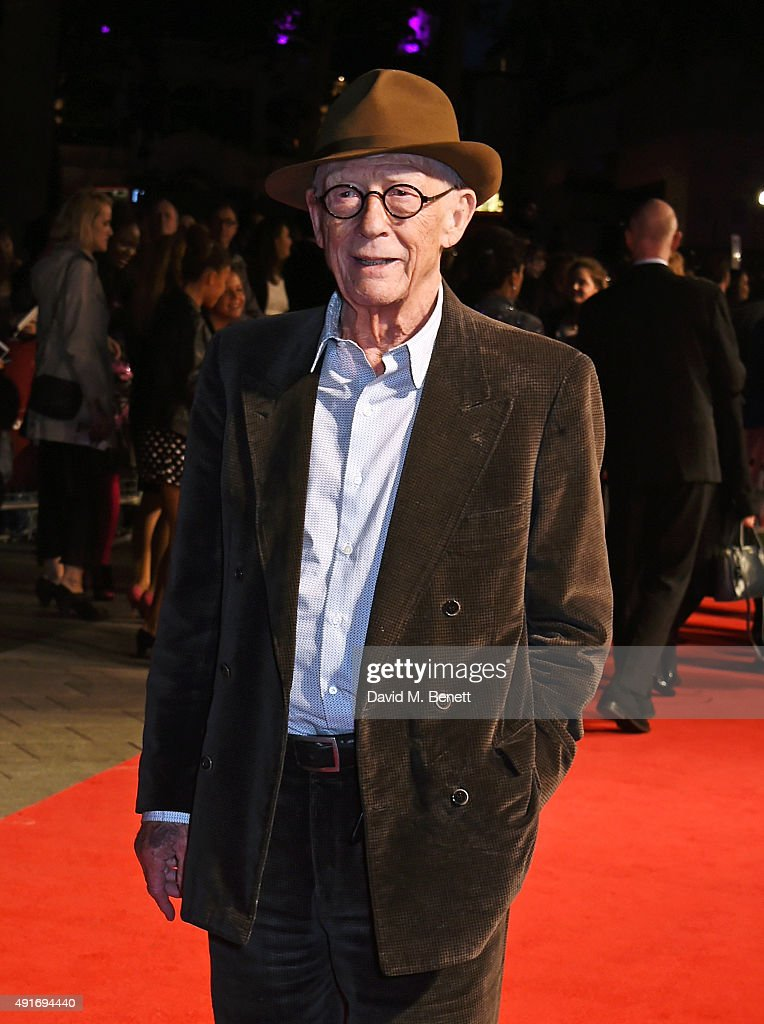 Sir John Hurt attends a screening of 'Suffragette' on the opening night of the BFI London Film Festival at Odeon Leicester Square on October 7, 2015 in London, England.