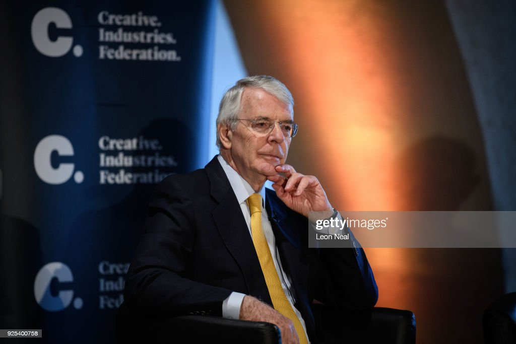 Sir John Major Gives A Brexit Speech On How To Bring Negotiations To A Close : News Photo