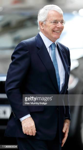Sir John Major visits King's College London to attend the official opening of Bush House the latest education and learning facilities on the Strand...