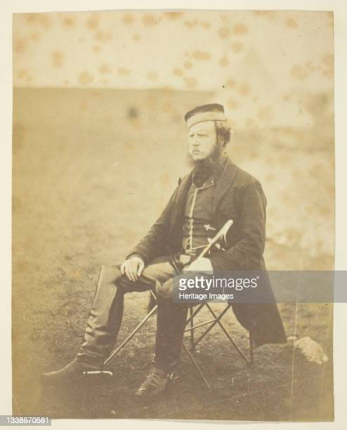Sir John Miller Adye , General; taken at the Crimea, 1855. A work made of thinly albumenized print. Artist Roger Fenton.