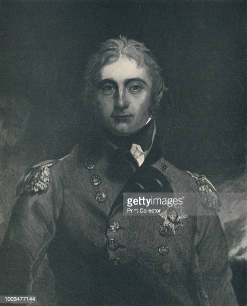 Sir John Moore' circa 1800 LieutenantGeneral Sir John Moore was a British soldier and general Engraving after a mezzotint From Life of Napoleon...