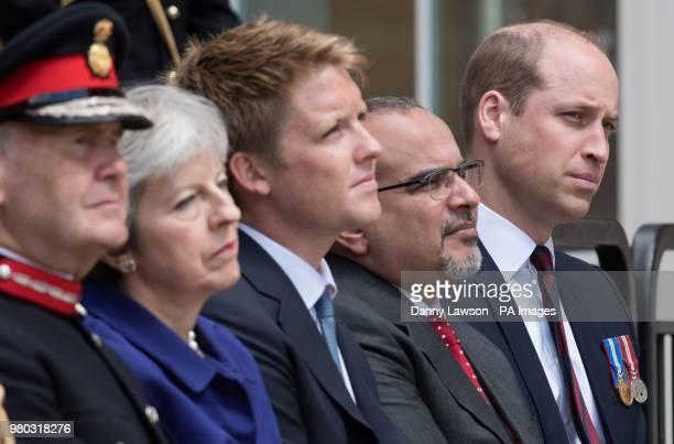 Sir John Peace Prime Minister Theresa May Hugh Grosvenor 7th Duke of Westminster Prince Salman bin Hamad bin Isa Al Khalifa and the Duke of Cambridge...