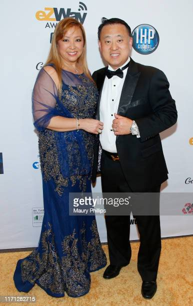 Sir John Shin his wife Lady Arlene Shin attend the eZWay Awards Golden Gala at Center Club Orange County on August 30 2019 in Costa Mesa California