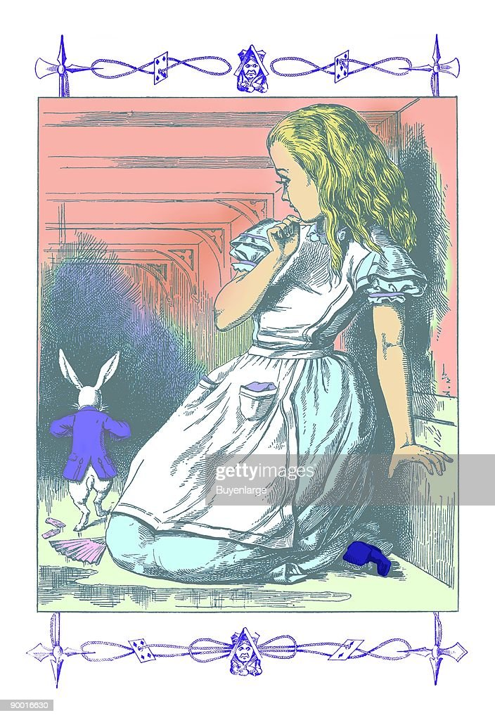 Alice in Wonderland: Alice Watches the White Rabbit : News Photo