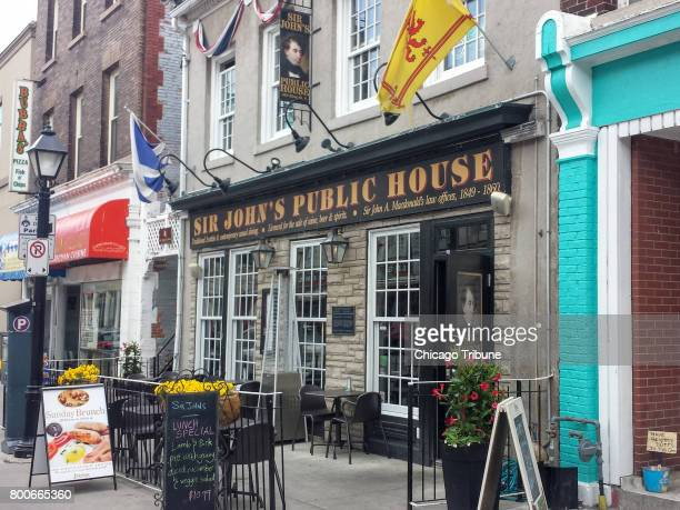 Sir Johnâs Public House a tavern that serves both local beers and upscale pub grub is in the building where Sir John A Macdonald Canadaâs first...