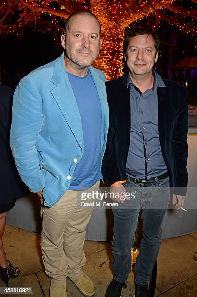 Sir Jonathan Ive and Matthew Freud attend Sushisamba's second anniversary celebration with a performance by Lily Allen at VIP at Sushi Samba on...