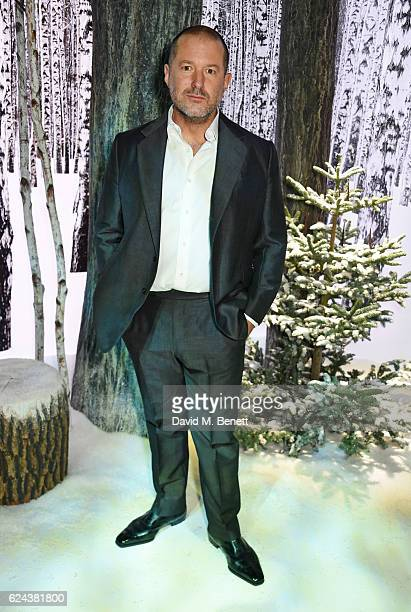 Sir Jony Ive attends Claridge's Christmas Tree 2016 Party with tree designed by Sir Jony Ive and Marc Newson at Claridge's Hotel on November 19 2016...