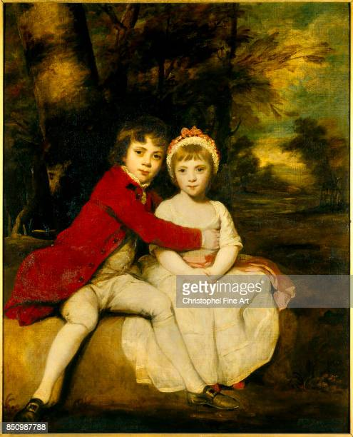 Sir Joshua Reynolds Portrait of John Parker later 1st Earl of Morley and his Sister Theresa Parker later the Hon Mrs George Villiers as children...