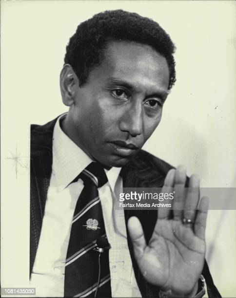 Sir Julius ChanThe Prime Minister of Papua New Guinea Sir Julius Chan pictured at a news conference today July 18 1980