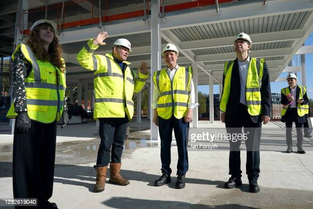 Sir Keir Starmer, Labour Party leader and Angela Rayner, Deputy Leader, Chair of the Labour Party and Labour council leader, Simon Henig visit a...