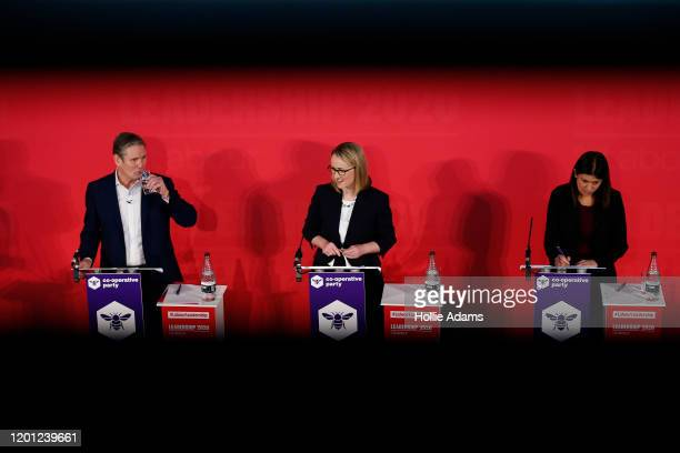 Sir Keir Starmer Rebecca LongBailey and Lisa Nandy speaking at a hustings event for Labour Leader and Deputy Leader hosted by the Cooperative Party...