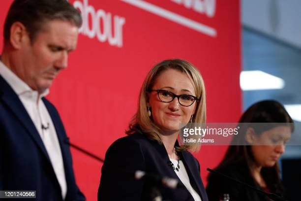 Sir Keir Starmer, Rebecca Long-Bailey and Lisa Nandy speaking at a hustings event for Labour Leader and Deputy Leader, hosted by the Co-operative...