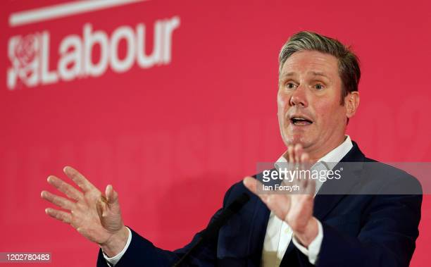 Sir Keir Starmer, Shadow Secretary of State for Exiting the European Union addresses the audience during the Labour Party Leadership hustings at the...
