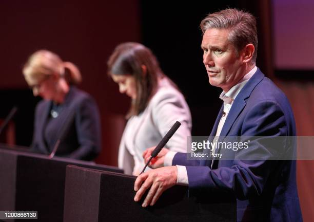 Sir Keir Starmer speaking at the Labour leadership hustings on the stage at SEC in Glasgow on February 15 2020 in Glasgow Scotland Sir Keir Starmer...