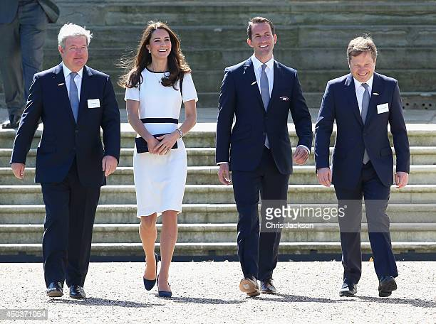 Sir Keith Mills Catherine Duchess of Cambridge Sir Ben Ainslie and Charles Dunstone at National Maritime Museum in Greenwich for the Ben Ainslie...