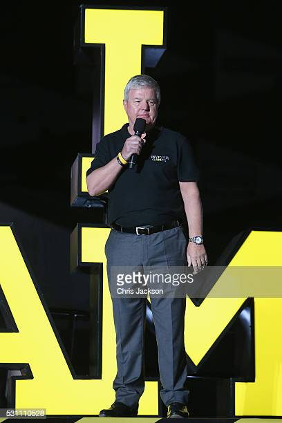 Sir Keith Mills GBE speaks onstage at the Invictus Games Orlando 2016 Closing Ceremony at ESPN Wide World of Sports Complex on May 12 2016 in Lake...