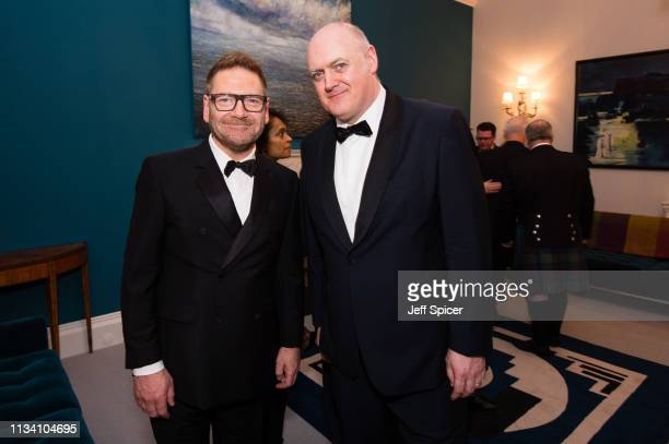 Sir Kenneth Branagh and Dara O'Briain attend a dinner to mark St Patrick's Day and celebrate UKIrish relations on March 06 2019 in London United...
