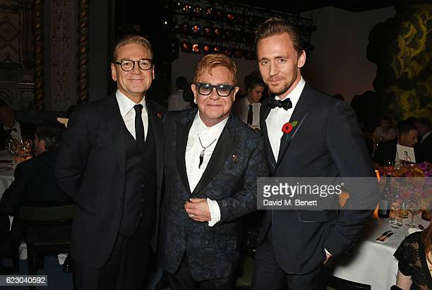 Sir Kenneth Branagh Sir Elton John and Tom Hiddleston attend the 62nd London Evening Standard Theatre Awards recognising excellence from across the...