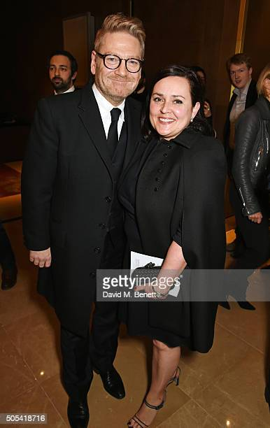 Sir Kenneth Branagh winner of the Dilys Powell Award for Excellence in Film and wife Lindsay Brunnock attend The London Critics' Circle Film Awards...