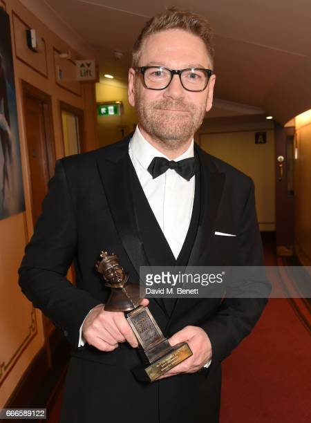 Sir Kenneth Branagh winner of the Special Award poses in the winners room at The Olivier Awards 2017 at Royal Albert Hall on April 9 2017 in London...