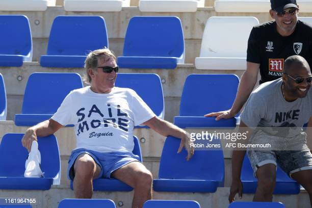 Sir Kenny Dalglish watches an AFC Bournemouth preseason training session at La Manga Club on July 14 2019 in Cartagena Spain