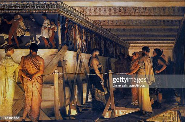 Sir Lawrence AlmaTadema Phidias showing the Parthenon Frieze to his Friends Sir Lawrence AlmaTadema was one of the most renowned painters of late...