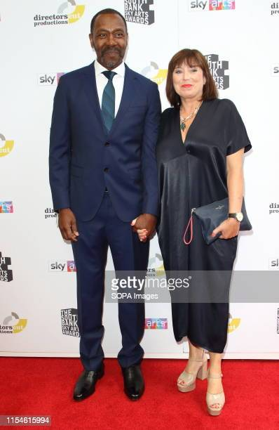 Sir Lenny Henry and Lisa Makin attend a South Bank Sky Arts Awards at the Savoy strand in London