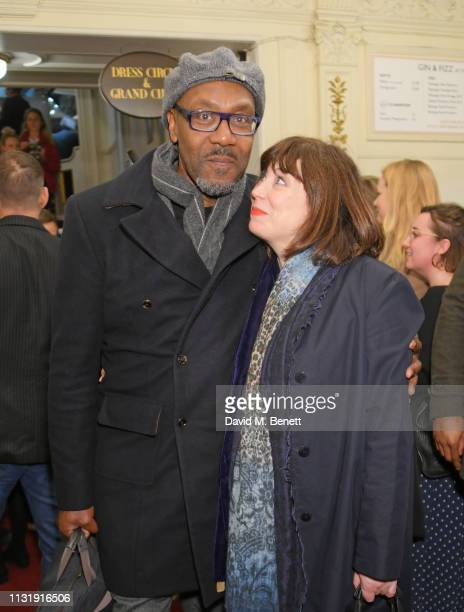 Sir Lenny Henry and Lisa Makin attend the press night after party for Emilia at The Vaudeville Theatre on March 21 2019 in London England