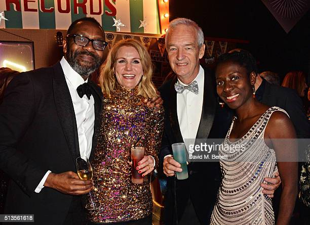 Sir Lenny Henry Helle ThorningSchmidt Jon Snow and Precious Lunga attend 'A Night Of Motown' for Save The Children UK at The Roundhouse on March 3...