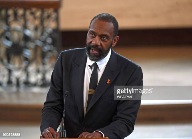 Sir Lenny Henry speaks during a memorial service at St MartinintheFields in Trafalgar Square to commemorate the 25th anniversary of the murder of...