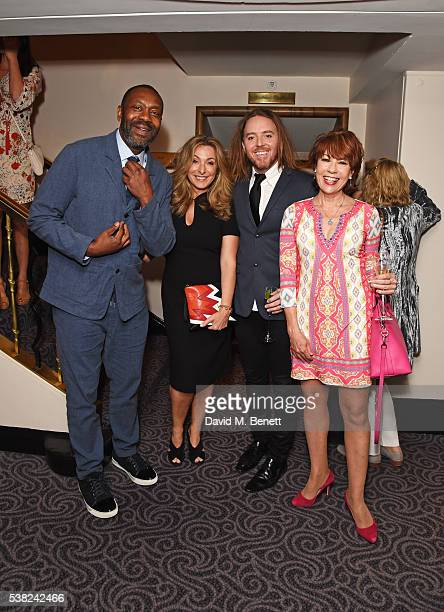 Sir Lenny Henry, Tracy-Ann Oberman, Tim Minchin and Kathy Lette attend the The South Bank Sky Arts Awards, airing on Wednesday 8th June on Sky Arts,...