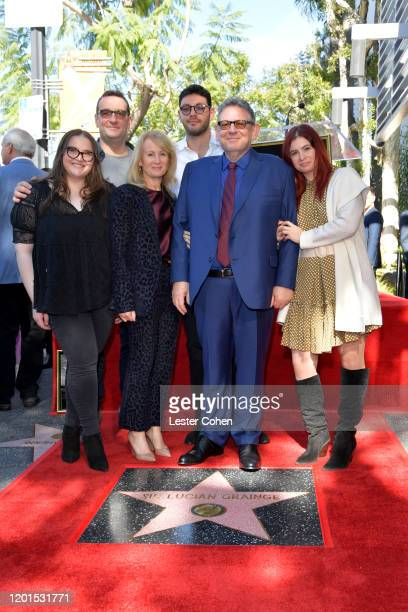 Sir Lucian and his family attend Sir Lucian Grainge Honored with Star on the Hollywood Walk of Fame at Hollywood Walk Of Fame on January 23, 2020 in...