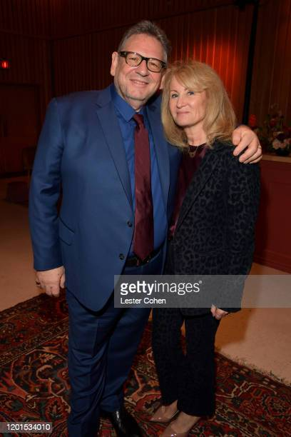 Sir Lucian Grainge and Caroline Grainge attend Sir Lucian Grainge Honored with Star on the Hollywood Walk of Fame at Hollywood Walk Of Fame on...