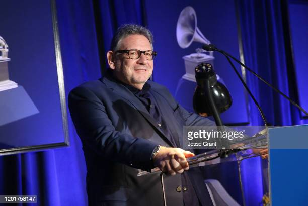 Sir Lucian Grainge Chairman and CEO Universal Music Group attends the 62nd Annual GRAMMY Awards Entertainment Law Initiative on January 24 2020 in...