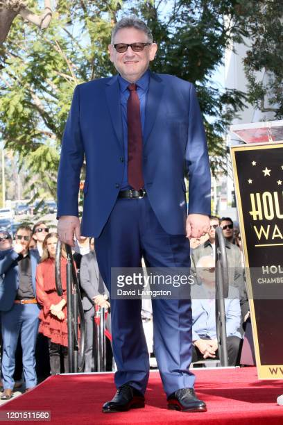 Sir Lucian Grainge is honored with a star on the Hollywood Walk of Fame on January 23 2020 in Hollywood California