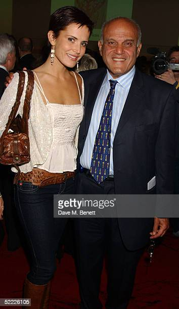 Sir Magdi Yacoub and model Sophie Anderton attend the Chain Of Hope auction and party in aid of heart surgeon Professor Sir Magdi Yacoub's charity at...