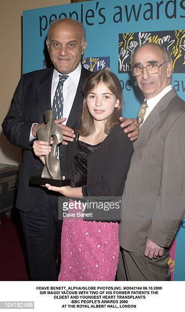 Sir Magdi Yacoub With Two Of His Former Patients The Oldest And Youngest Heart Transplants Bbc People's Awards 2000 At The Royal Albert Hall London