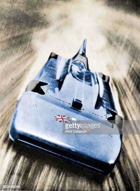 Sir Malcolm Campbell at high speed in `Blue Bird` 1935 Campbell set a new land speed record of over 276 miles per hour on 12 March at Bonneville Salt...